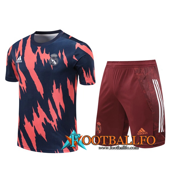 Camiseta Entrenamiento Real Madrid + Shorts Marron/Azul 2020/2021
